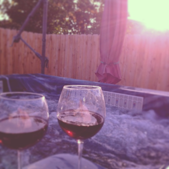 This is how hubby and I like to enjoy (once in a while) a nice evening together!