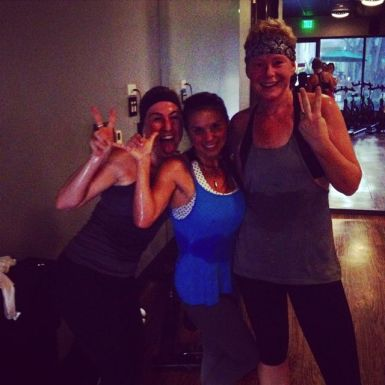 Friday evening - spin class with THE girls