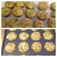Mini zucchini quiche muffins - yum