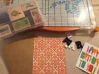 crafting a birthday card
