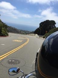back down the hill - hello ocean