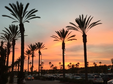 wunderschoener Sonnenuntergang