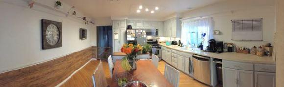 Pano von der neu gestalteten Küche
