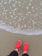 Samstagmorgen war ich joggen am Strand.