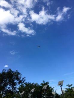 Der Luftraum ueber dem Hotel in Florida