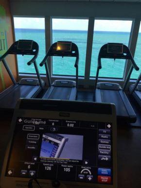 Der Ausblick im Gym