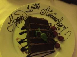 a little anniversary gift from the restaurant - it was amazing!
