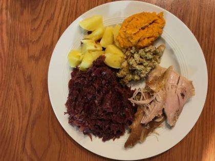 Traditionelles Thanksgiving Essen