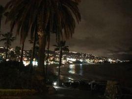 Laguna Beach im NIeselregen am Silvester Abend