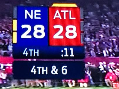 Falcons led the game 21:0 for the longest time