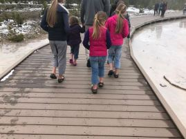 Diese Familie kam aus Montana - wir ihr seht, brauchten die keine Socken (waaaas?)