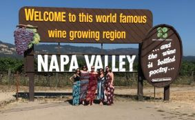 .... in front of the Napa sign.