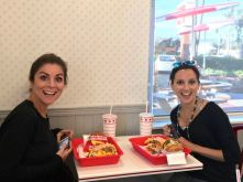 In-N-Out for dinner - the ladies were so excited :)